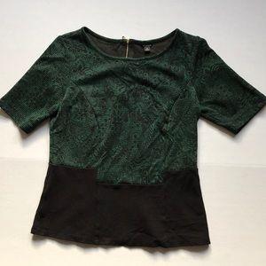 Ann Taylor short Sleeves stretch dress top Sz M